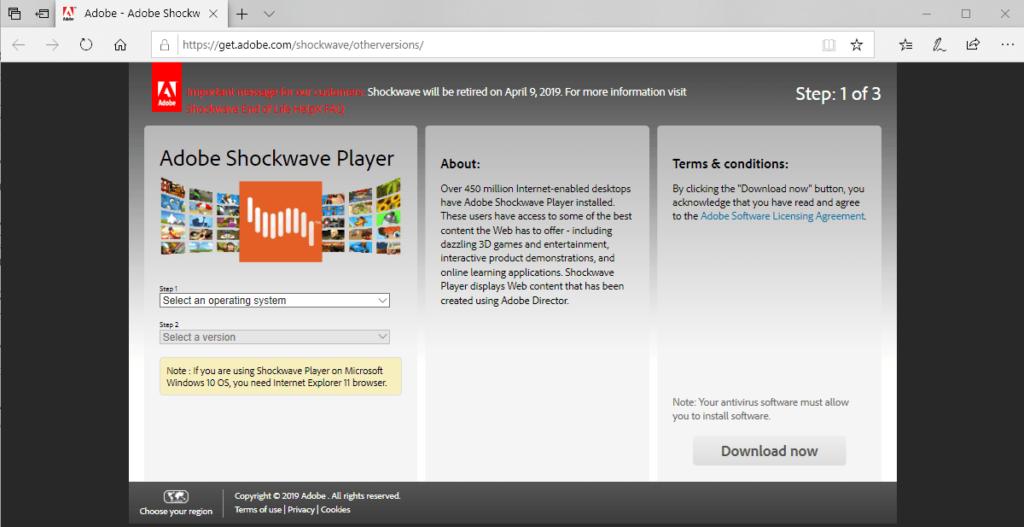 download Adobe Shockwave Player free
