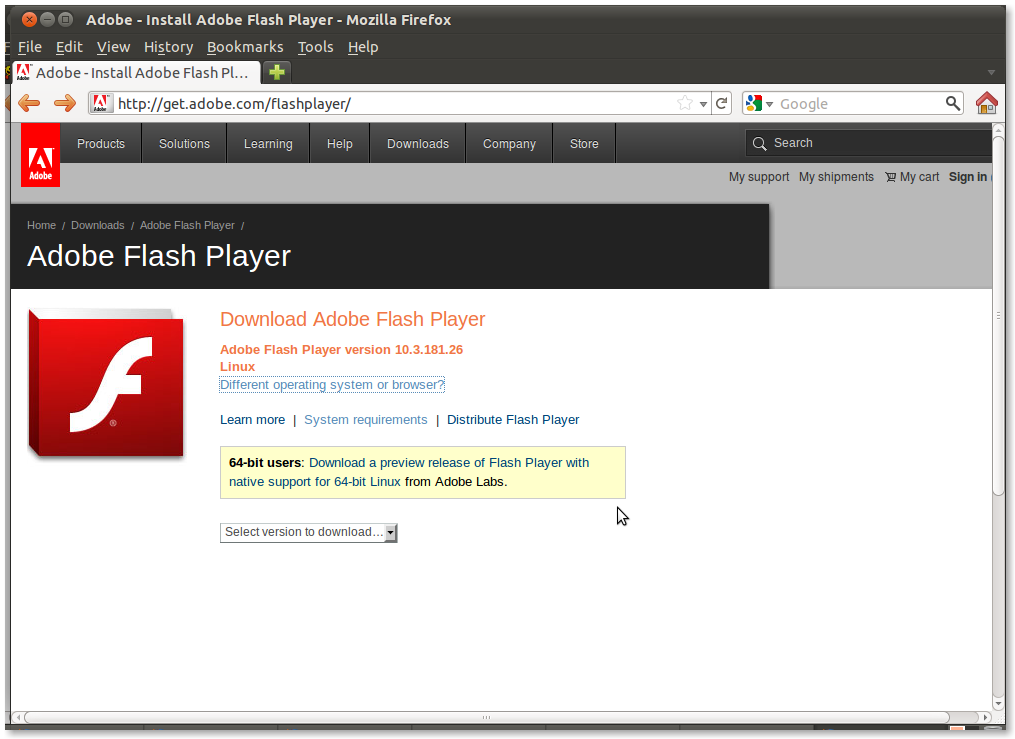 Download Adobe Flash CS3